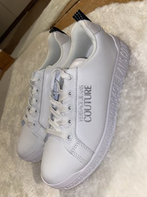 Versace Lace Shoes white-silver-colored