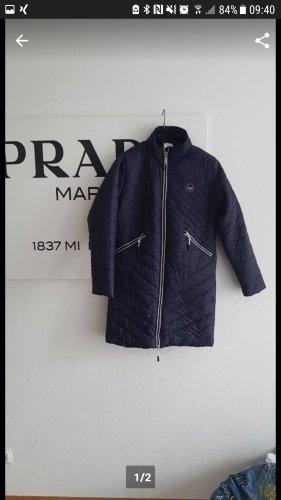 Versace Manteau en duvet bleu foncé