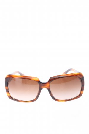 Versace eckige Sonnenbrille hellorange-schwarz abstraktes Muster Elegant