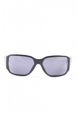 Versace eckige Sonnenbrille schwarz-silberfarben Casual-Look