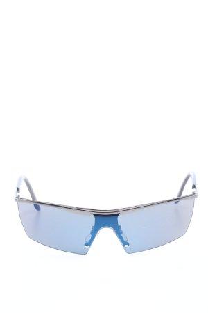 Versace Gafas de sol cuadradas azul look casual