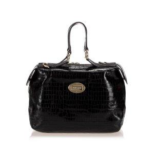 Versace Embossed Leather Handbag