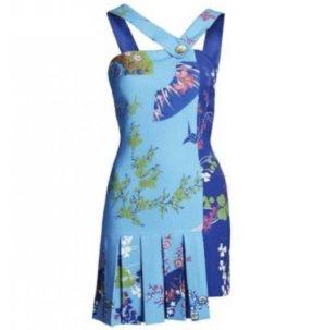 Versace for H&M Evening Dress neon blue