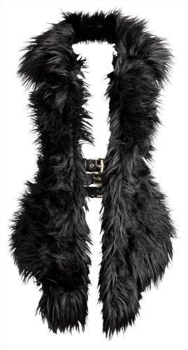 Versace for H&M Gilet en fourrure noir-doré