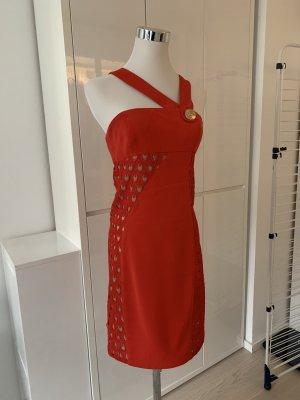 Versace for H&M Kleid mit Spitzeneinsatz in Rot (Größe 36)