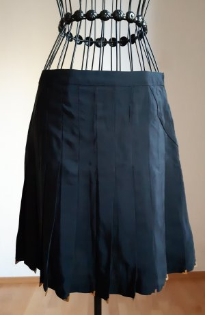 Versace for H&M Plaid Skirt black silk
