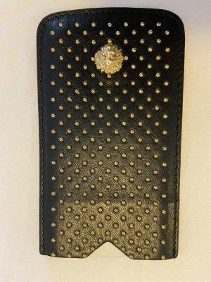 VERSUS Versace Mobile Phone Case black-gold orange leather