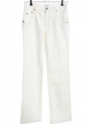 Versace Pantalon taille haute blanc style décontracté
