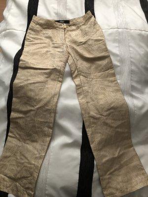 Versace Jeans Couture pantalón de cintura baja color oro