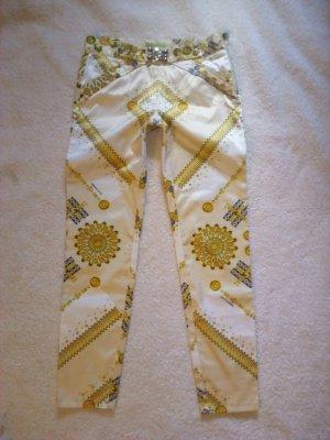 Versace Pantalon taille basse crème