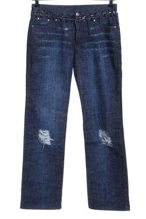 Versace Hüftjeans blau Casual-Look