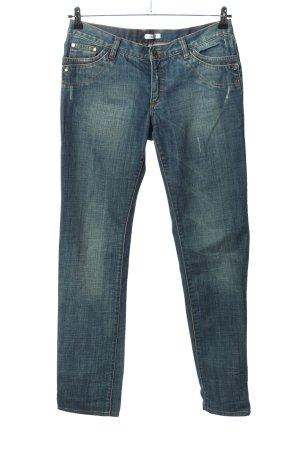 Versace Jeans taille basse bleu style décontracté