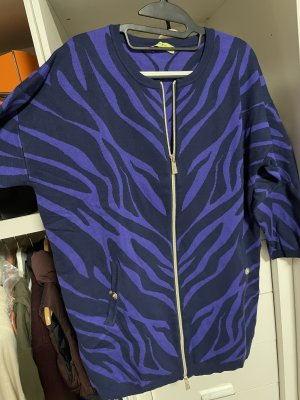 Versace Jeans Cappotto a maglia viola scuro-nero