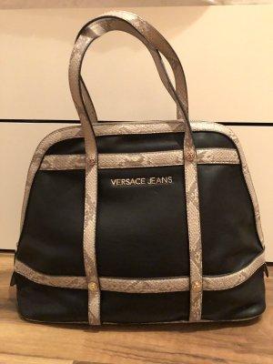 Versace Jeans Draagtas zwart-licht beige Reptielenleer