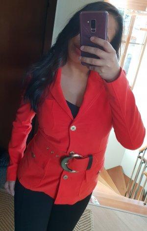 Versace Jeans Blazer Jacke Rot mit Gürtel