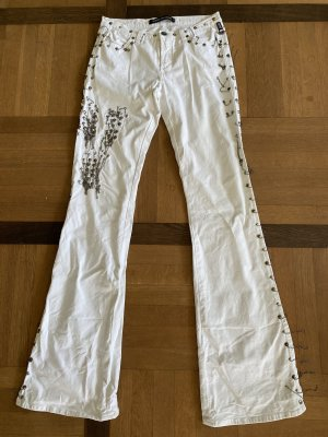 Versace Jeans Couture Jeans flare blanc