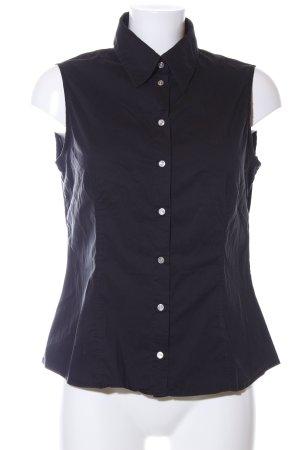 Versace Jeans Couture ärmellose Bluse schwarz Schriftzug gestickt Casual-Look