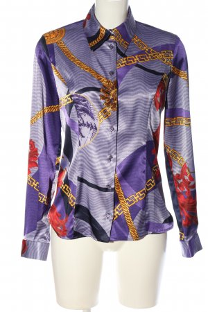 Versace Jeans Couture Hemd-Bluse Allover-Druck Casual-Look