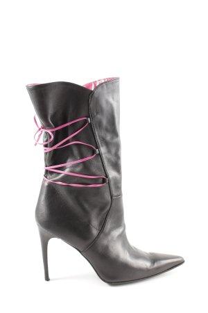 Versace Jeans Couture High Heel Stiefel schwarz-pink Casual-Look