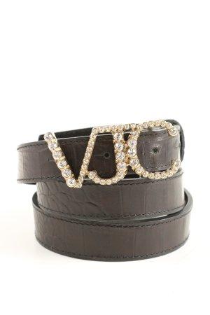 Versace Jeans Couture Ceinture de hanches brun motif animal style décontracté