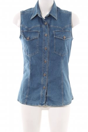 Versace Jeans Couture Jeansbluse blau Casual-Look