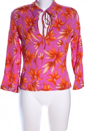 Versace Jeans Couture Langarm-Bluse pink-hellorange Allover-Druck Casual-Look