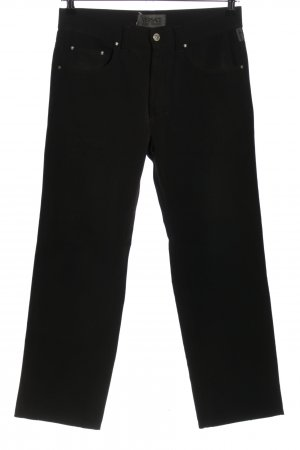 Versace Jeans Couture Pallazzohose schwarz Casual-Look