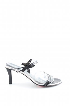 Versace Jeans Couture Riemchen-Sandaletten schwarz-weiß Casual-Look