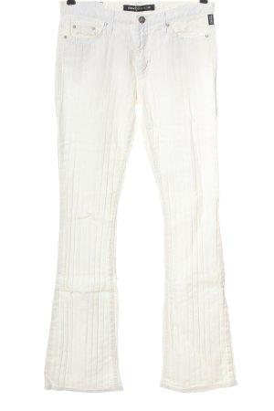 Versace Jeans Couture Pantalon pattes d'éléphant blanc style décontracté