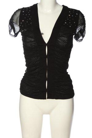 Versace Jeans Couture Schlupf-Bluse schwarz Elegant