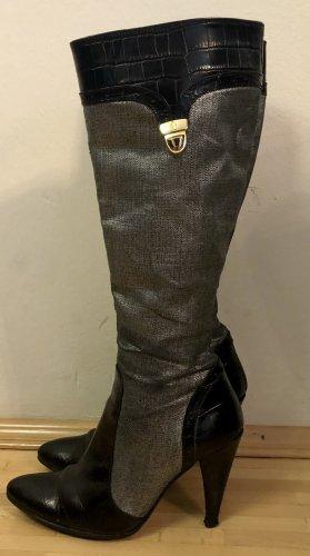 Versace Jeans Couture Buty na obcasie czarny-srebrny