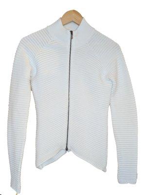 Versace Jeans Couture weißes geripptes Baumwolljäckchen