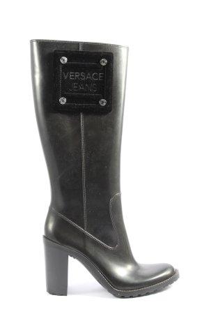 Versace Jeans Wellington laarzen zwart casual uitstraling