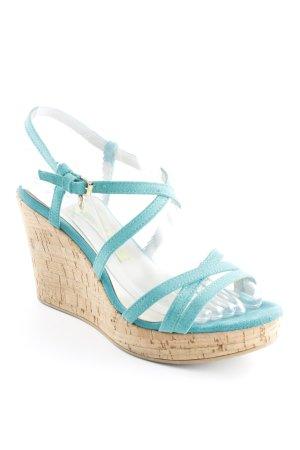 Versace Jeans High Heel Sandaletten türkis Korkelemente
