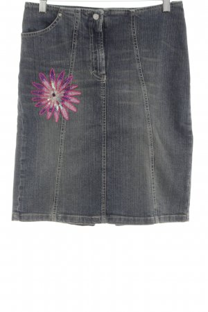 Versace Jeans Jeansrock hellgrau-blau meliert Casual-Look