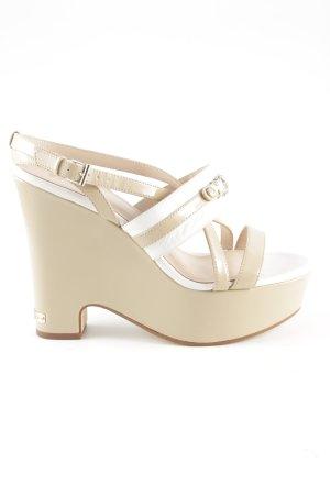 Versace Jeans Keil-Pumps nude-weiß Business-Look