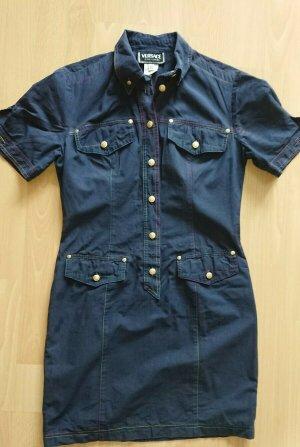Versace Robe en jean bleu
