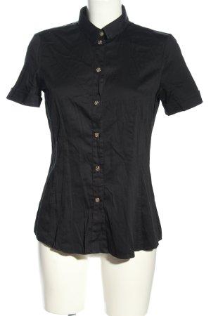 Versace Jeans Kurzarm-Bluse schwarz Casual-Look