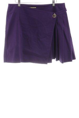 Versace Jeans Minirock dunkelviolett Casual-Look