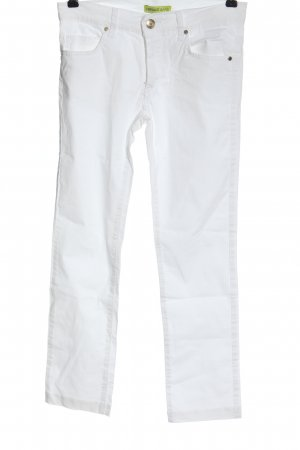 Versace Jeans Drainpipe Trousers white casual look
