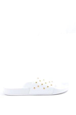 Versace Jeans Sandały plażowe biały W stylu casual