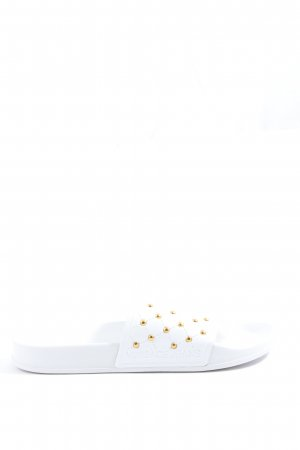 Versace Jeans Sandalias de playa blanco look casual