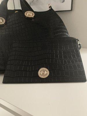Versace Jeans Sac Baril noir-doré faux cuir