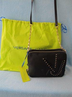Versace Jeans Tasche Umhängetasche Clutch schwarz 22 cm NEU E1VHBBH8