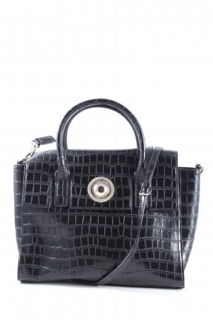 Versace Jeans Umhängetasche schwarz Animalmuster Business-Look