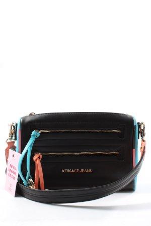 Versace Jeans Umhängetasche schwarz-blau Casual-Look