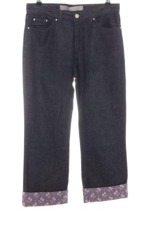 Versace Jeans flare noir motif de fleur style décontracté