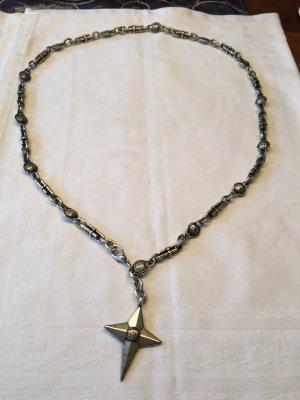 Versace Cinturón de cadena gris-color plata metal