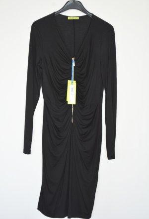 Versace Stretch Dress black-gold-colored viscose