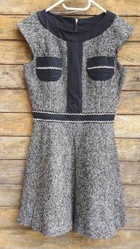 Versace Robe à manches courtes blanc-noir